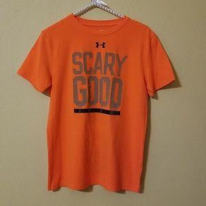 Under Armour Orange Reflective Halloween T-Shirt
